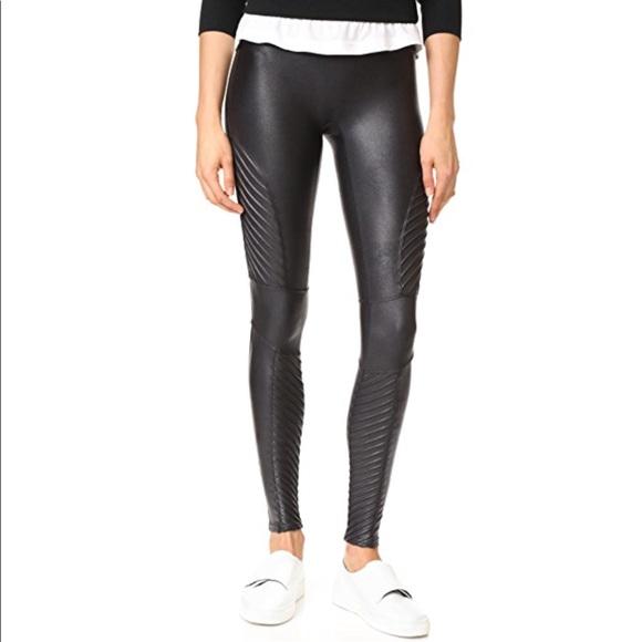 6084e2e58463d SPANX Pants | Faux Leather Moto Leggings Nwt S | Poshmark